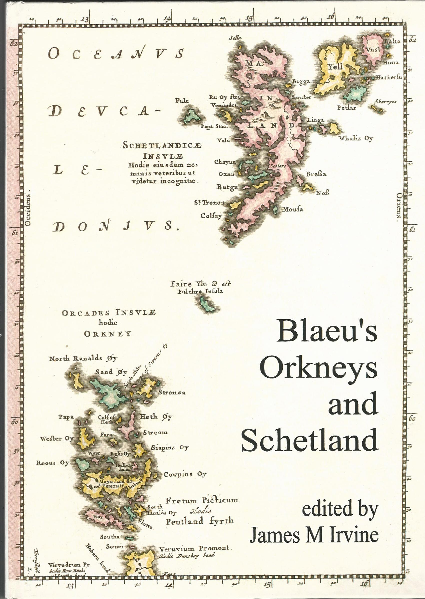 Image for Blaeu's Orkneys and Schetland: The Orkneys and Schetland in Blaeu's Atlas of 1654