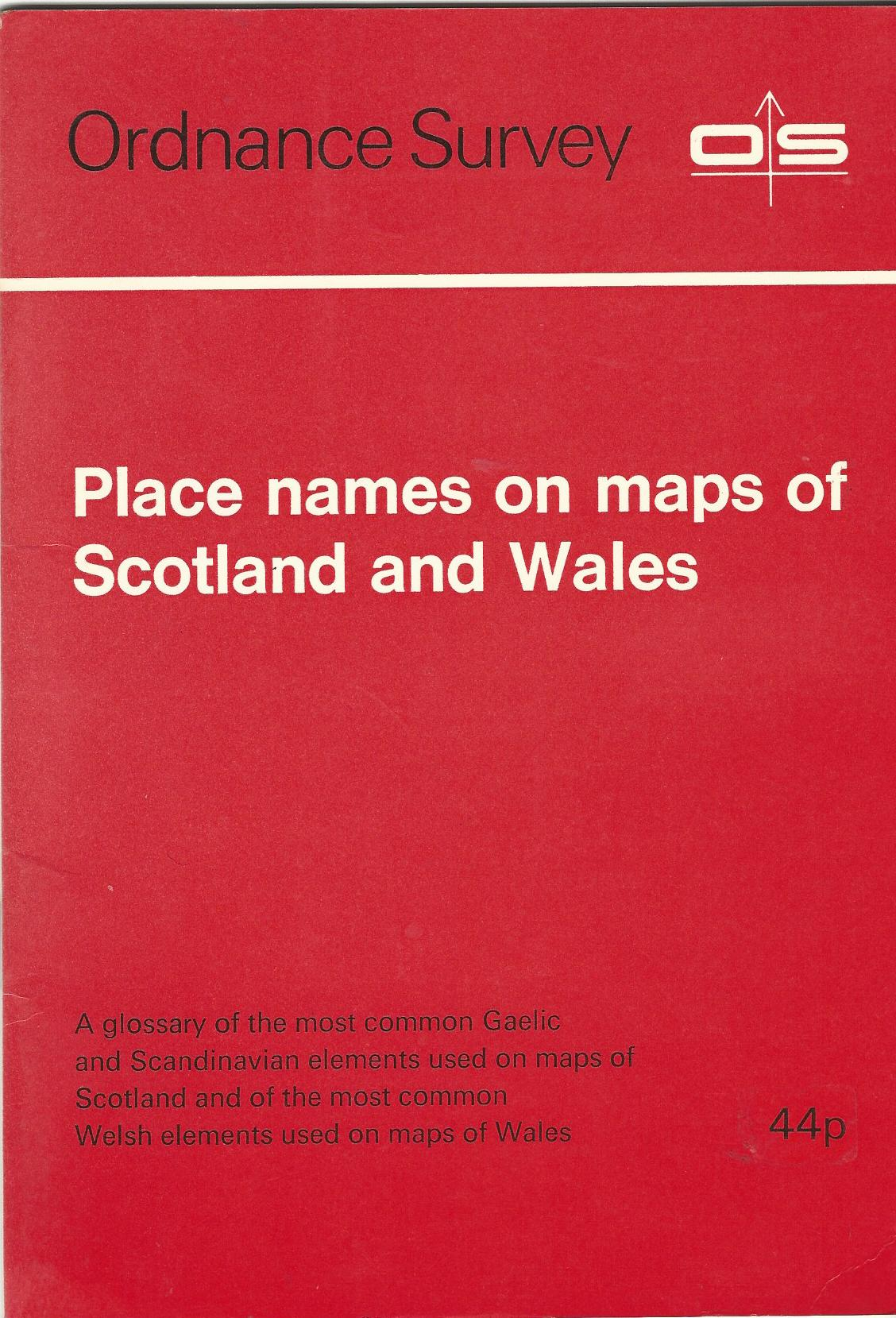 Image for Place Names on Maps of Scotland and Wales