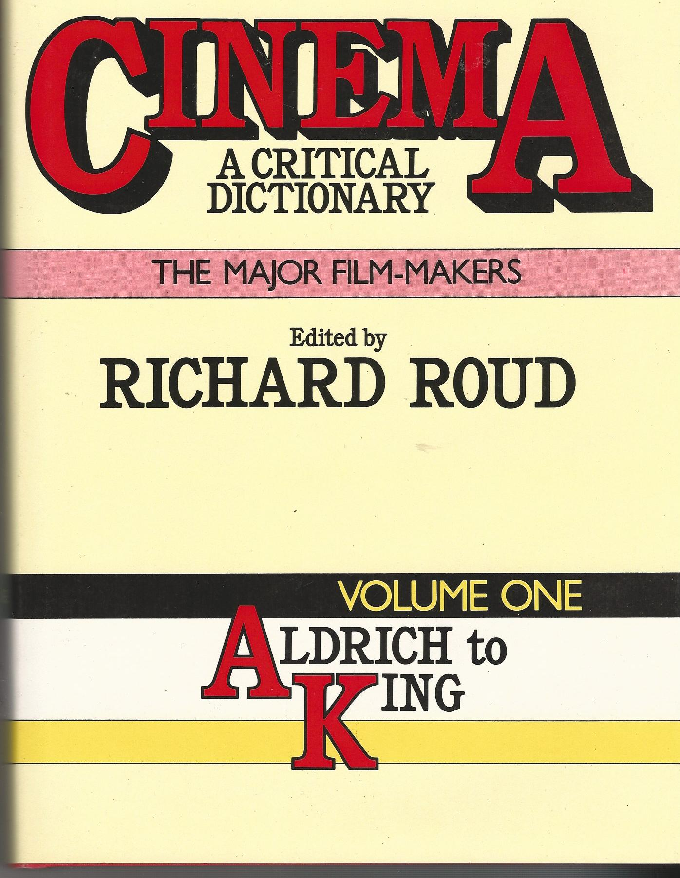 Image for Cinema: A Critical Dictionary: The Major Film Makers. Two Volumes.