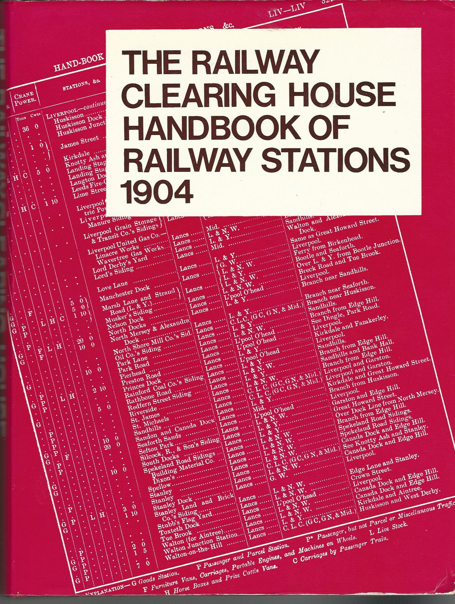 Image for The Railway Clearing House Handbook of Railway Stations, 1904.