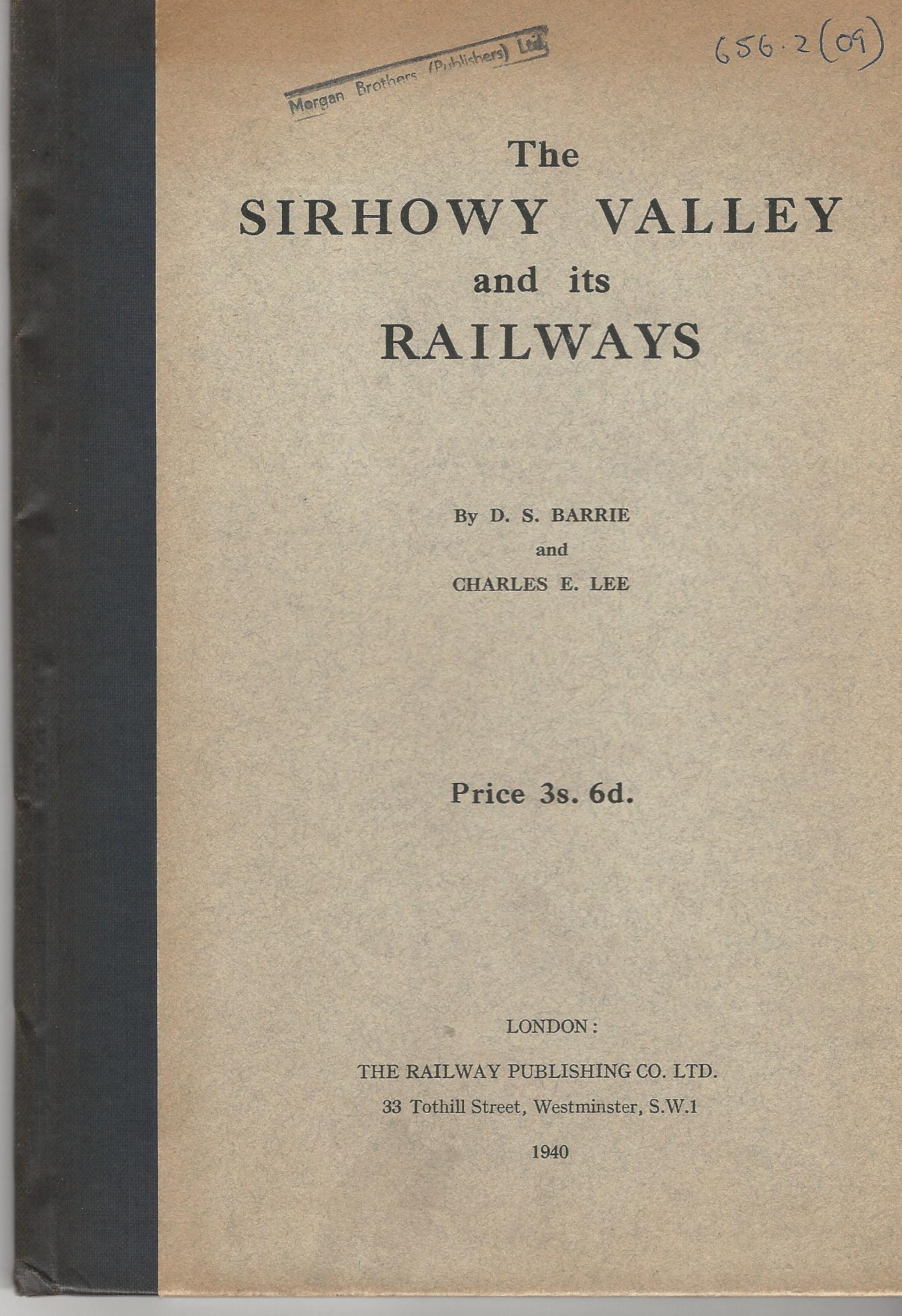 Image for The Sirhowy Valley and its Railways.
