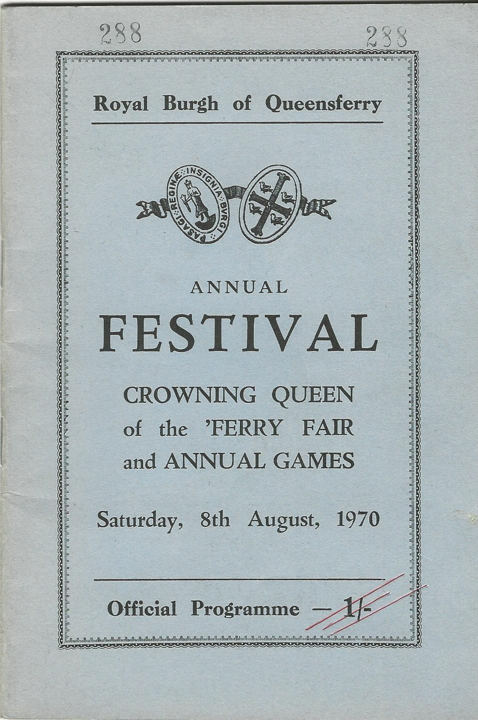 Image for Royal Burgh of Queensferry Annual Festival - Crowning Queen of the 'Ferry Fair and Annual Games, Saturday, 8th August, 1970.