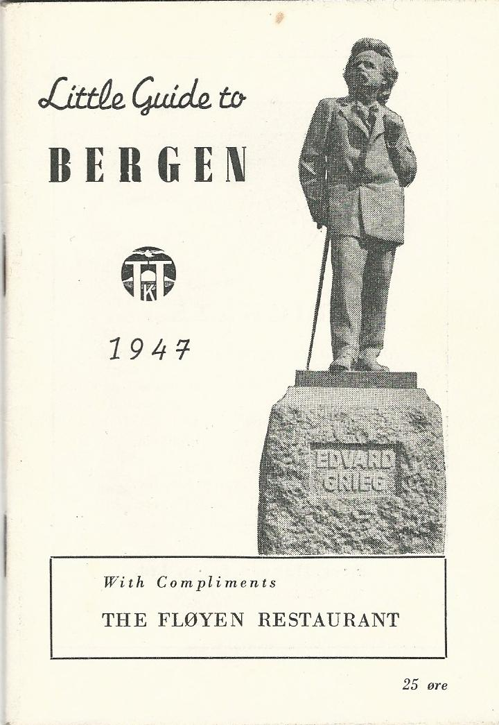 "Image for Little Guide to Bergen 1947 ""With Compliments - The Floyen Restaurant"""