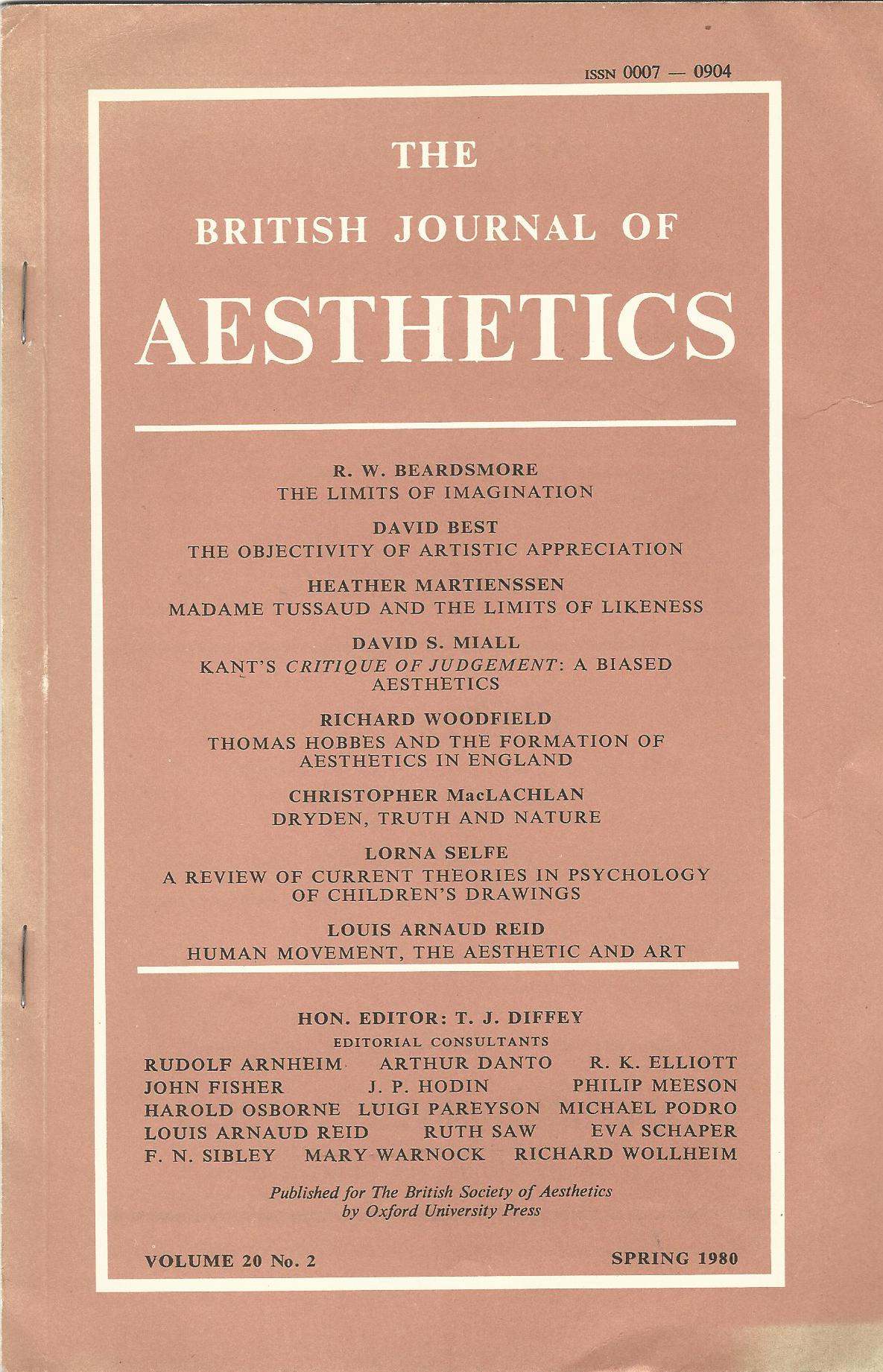 Image for The British Journal of Aesthetics