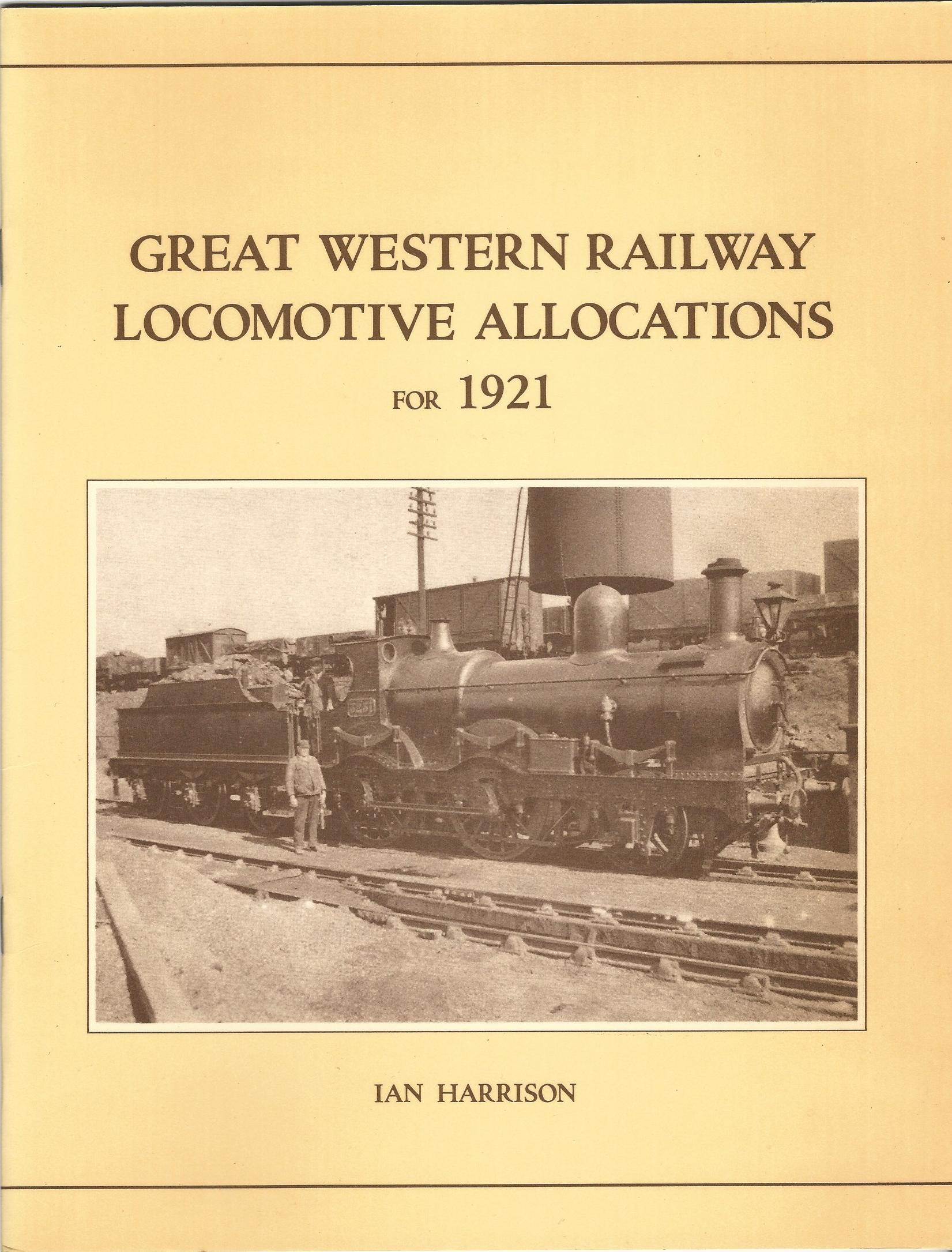 Image for Great Western Railway Locomotive Allocations for 1921