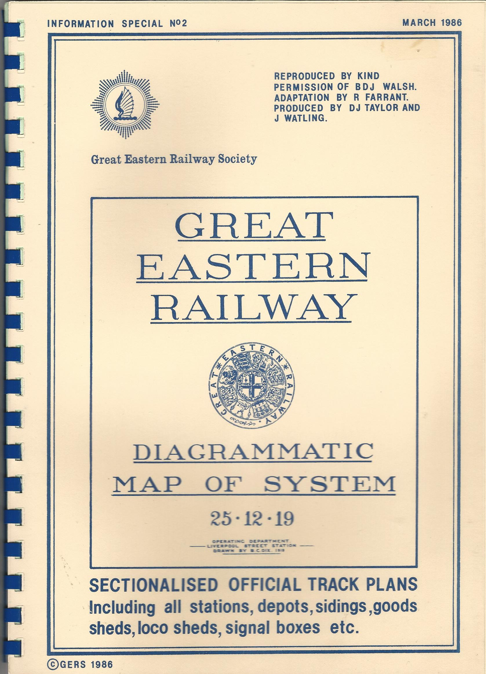 Image for Great Eastern Railway Diagrammatic Map of System 25.12.19