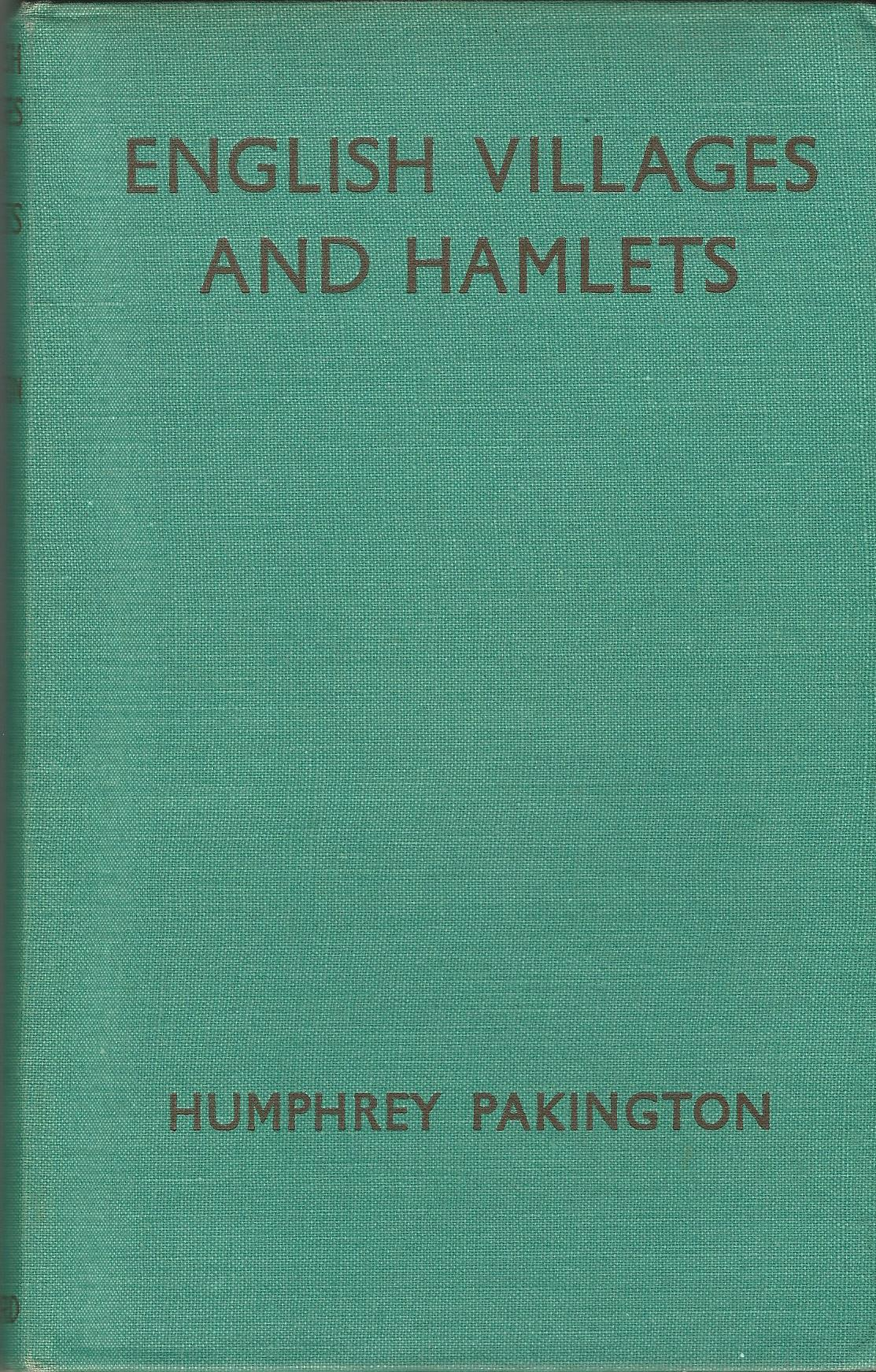 Image for English Villages and Hamlets