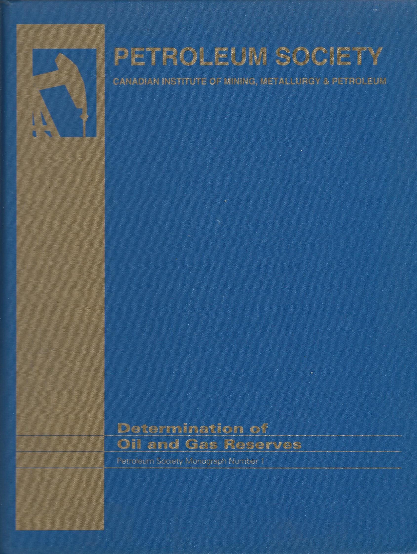Image for Determination of Oil and Gas Reserve