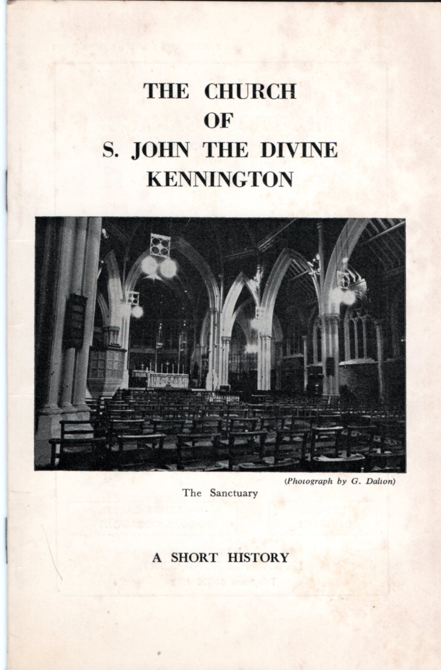 Image for The Church of St. John the Divine, Kennington: A Short History.