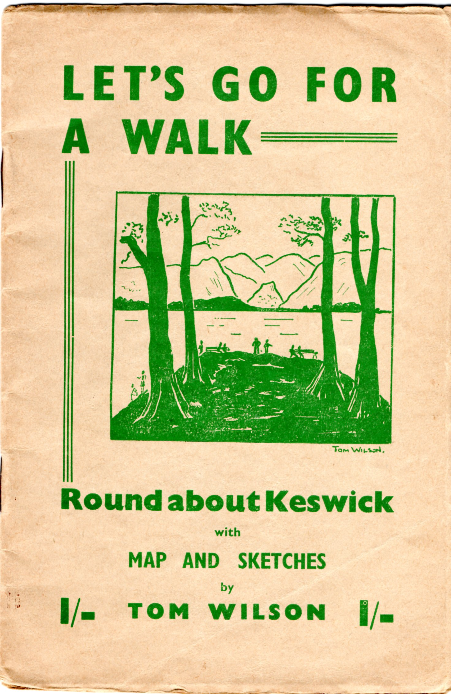 Image for Let's Go For A Walk: Round About Keswick with Map and Sketches