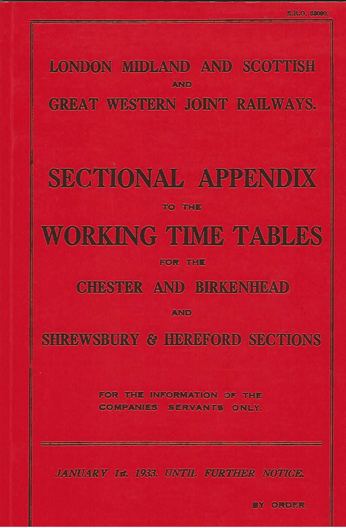 Image for London, Midland and Scottish and Great Western Joint Railways: Sectional Appendix to the Working Time Table (Chester and Birkenhead AND Shrewsbury and Hereford Sections)