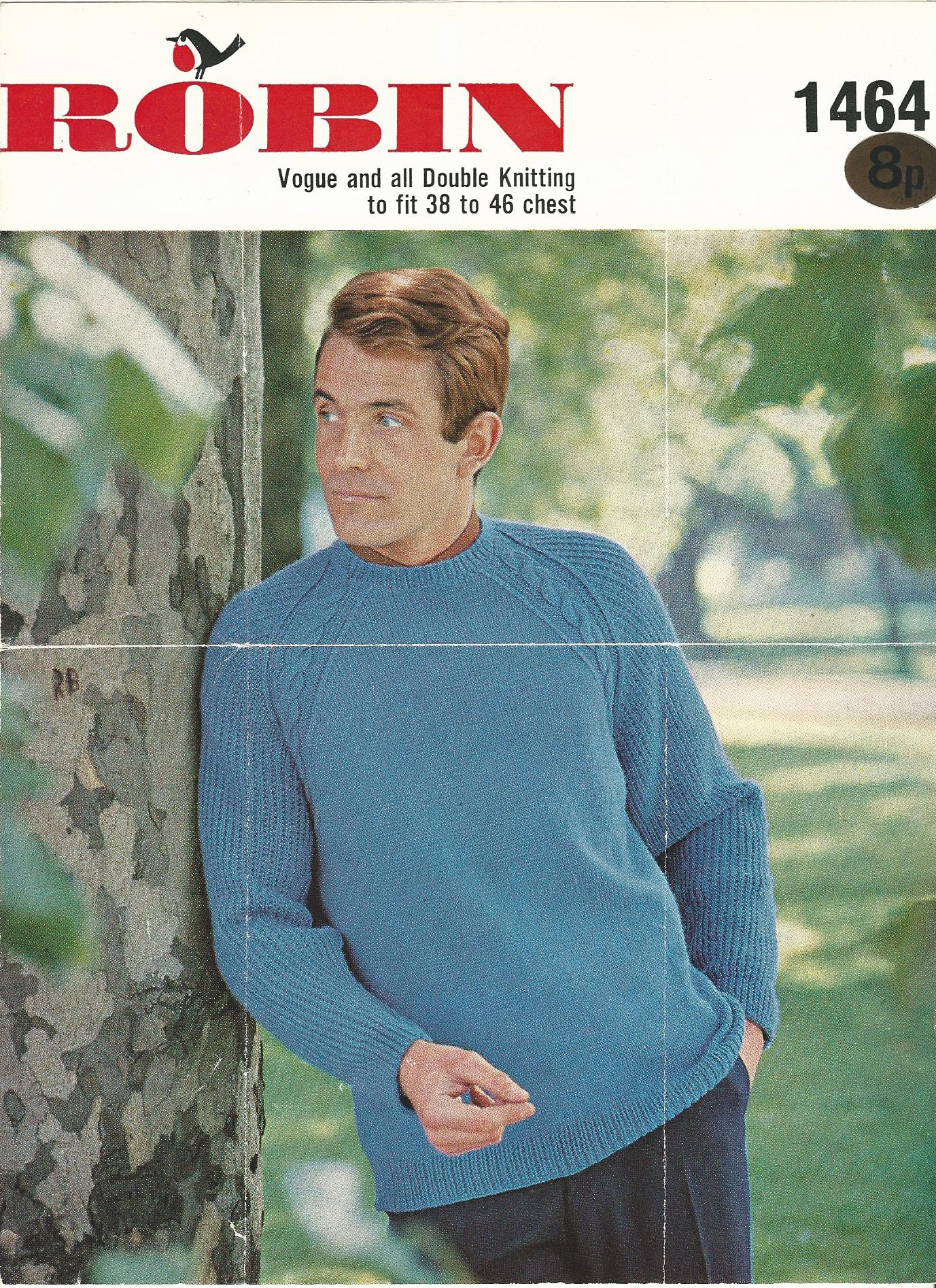 Image for Robin: Vogue and  all Double Knitting to fit 38 to 46 chest: No. 1464