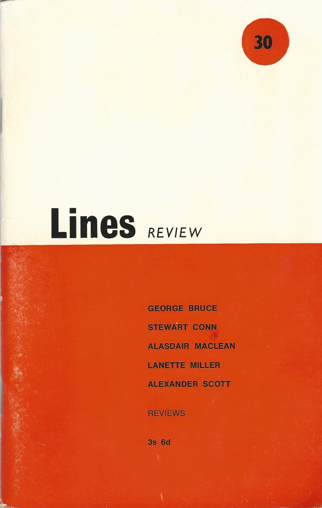 Image for Lines Review No.30 - October 1969