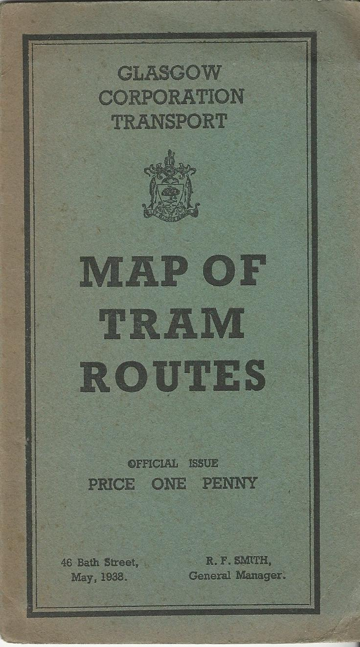 Image for Glasgow Corporation Transport: Map of Tram Routes, May 1938