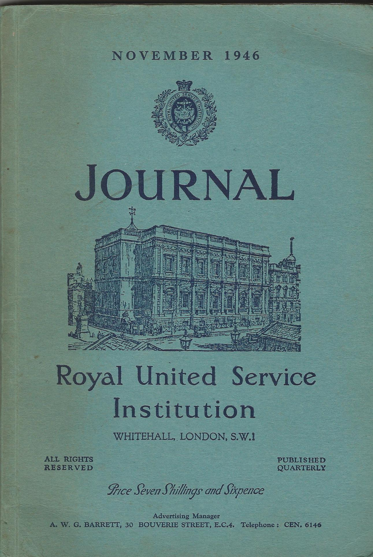 Image for Journal of the Royal United Service Institution, November 1946 - No. 564, Volume XCI