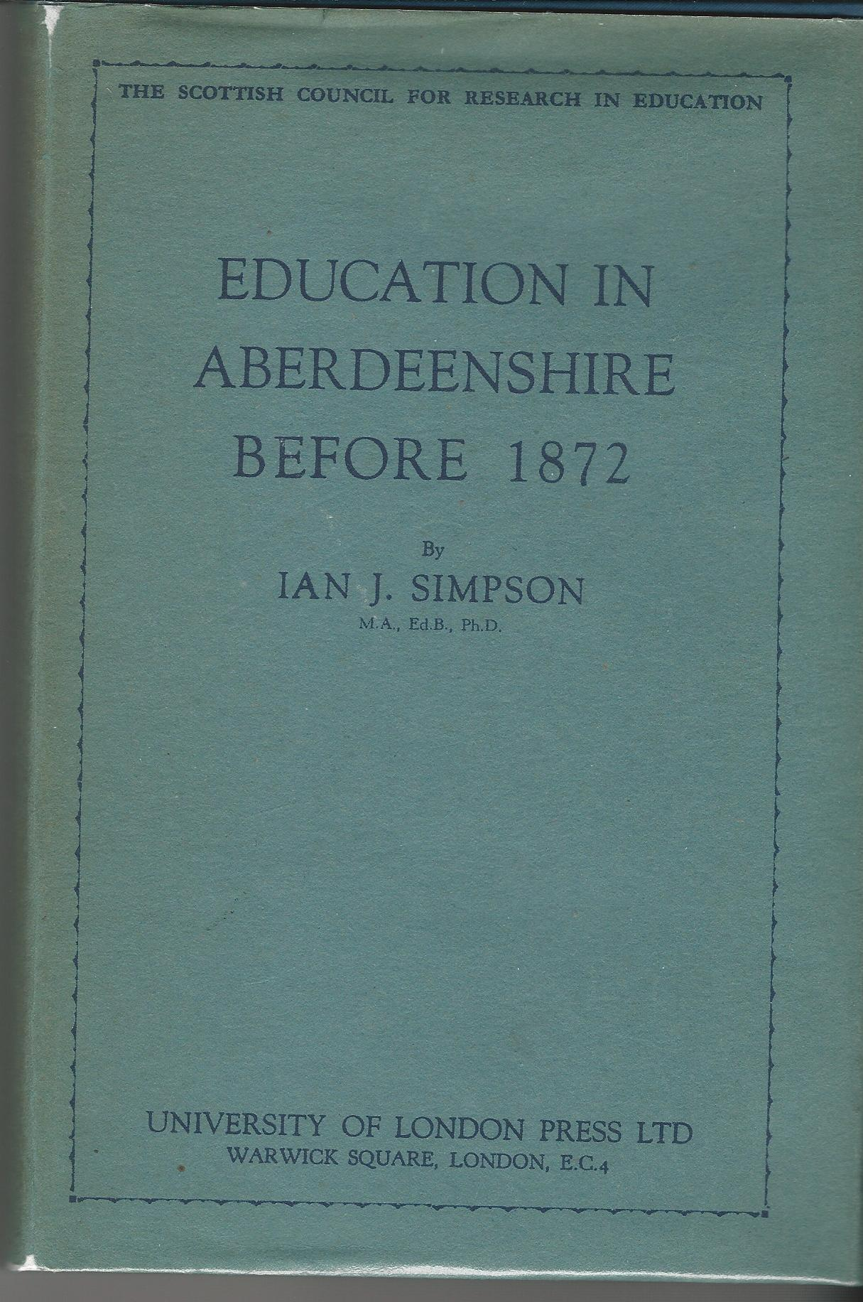 Image for Education in Aberdeenshire Before 1872.