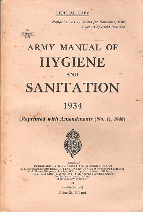 Army Manual of Hygiene and Sanitation 1934.