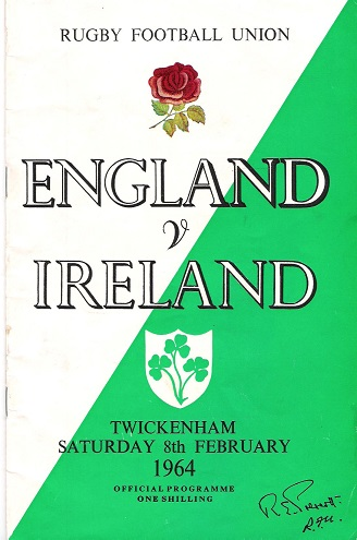 Image for Rugby Football Union: England v. Ireland.