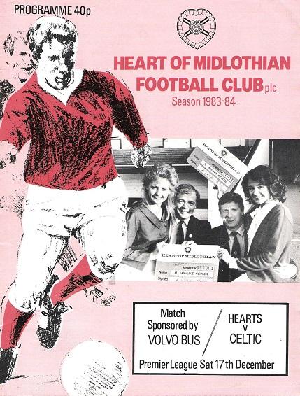 Heart of Midlothian football club season 1983-84. Hearts v. Celtic.