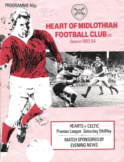 Image for Heart of Midlothian Football Club season 1983-84. Hearts v. Celtic.