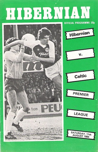Image for Hibernian v. Celtic Premier League Saturday 11th August 1984.