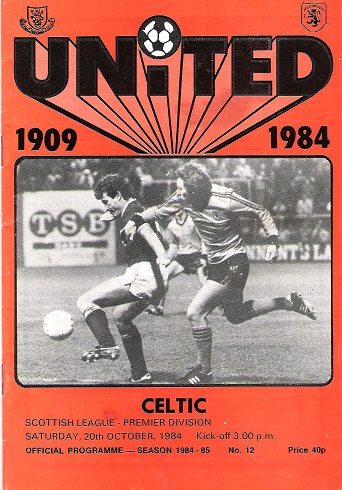Image for Dundee United F.C. Official Programme Celtic Scottish League Premier Division, Sat 20th October 1984.