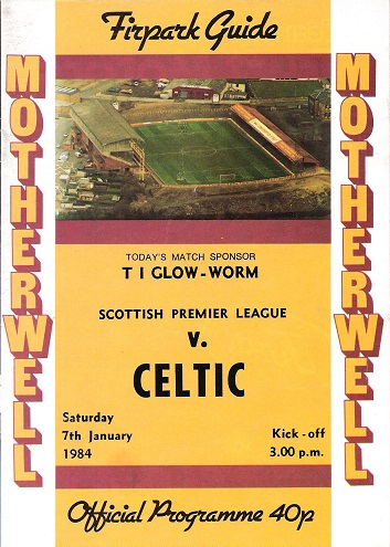 Image for Firpark Guide Motherwell v. Celtic on 7th January 1984.