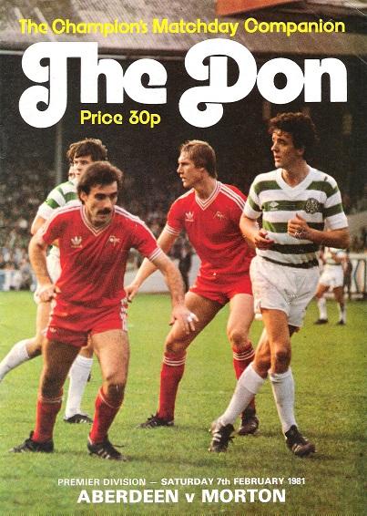 The Don. Premier Division: Saturday 7th February 1981.