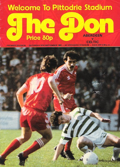 Image for The Don. Premier Division: Aberdeen v. Celtic Saturday 5th September 1981.
