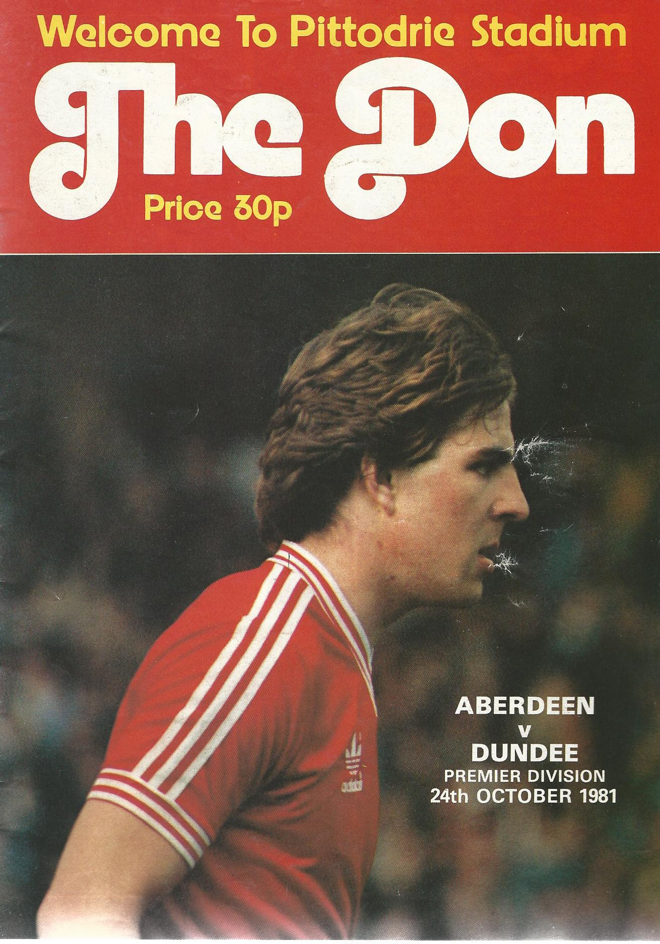 Image for The Don. Premier Division: Aberdeen v.  Dundee United, 24 October 1981.