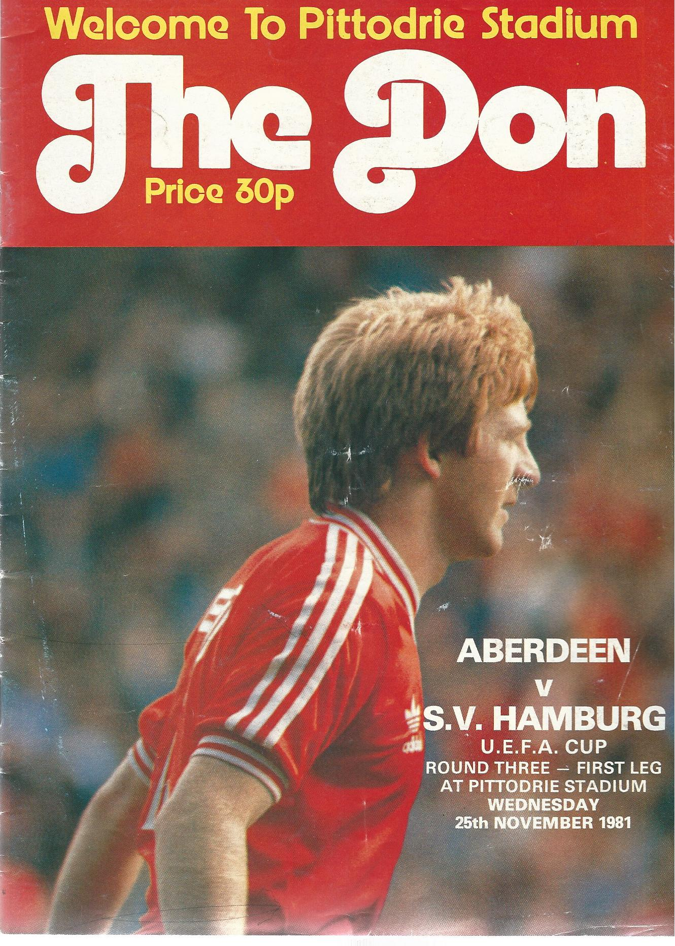 Image for The Don. Premier Division: Aberdeen v. S.V. Hamburg.