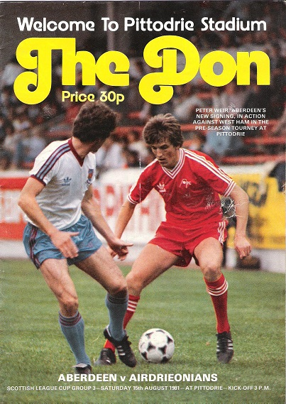 Image for The Don Matchday Magazine. Scottish League Cup Group 3, Saturday 15th August 1981.