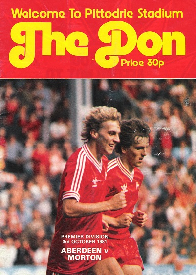 Image for The Don Matchday Magazine. Aberdeen v Morton, 3rd October 1981.