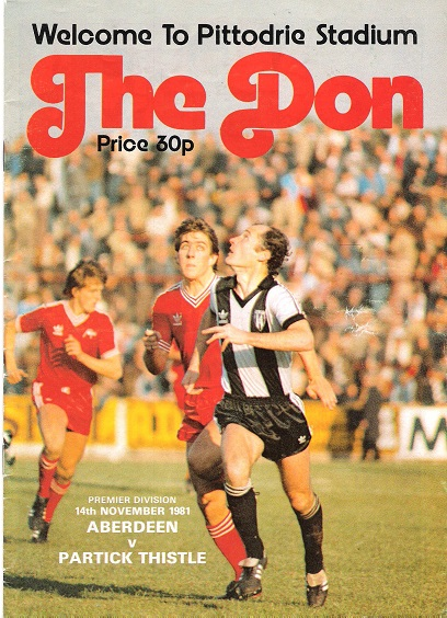 Image for The Don Matchday Magazine. Aberdeen v. Partick Thistle, Premier Division 14th November 1981.