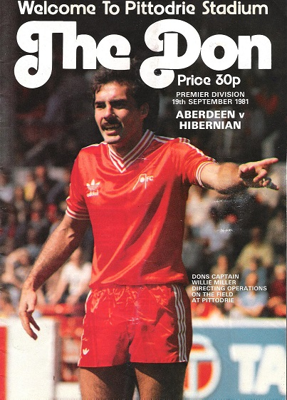 Image for The Don Matchday Magazine . Aberdeen v. Hibernian, Premier Division 19th September 1981.