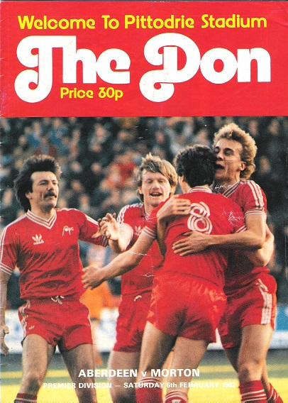Image for The Don Matchday Magazine.  Aberdeen v. Morton Premier Division Saturday 6th February 1981.