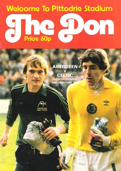 Image for The Don. Matchday Magazine.  Aberdeen v. Celtic. Premier Division 30th January 1986.