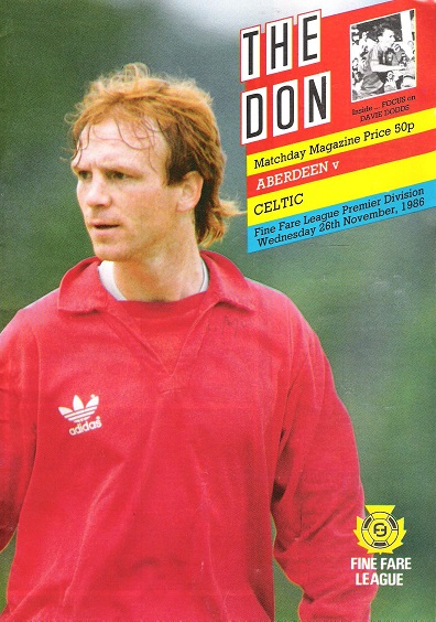 Image for The Don. Matchday Magazine.  Aberdeen v. Celtic. Fine Fare Leugue Premier Division, Wed. 26th November 1986.