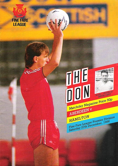 Image for The Don.  Matchday Magazine.  Aberdeen v. Hamilton. Fine Fare League Premier Division, Sat. 27th December 1986.