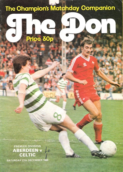 Image for The Don. Matchday Companion Saturday 27 Dec 1980: Aberdeen v. Celtic.