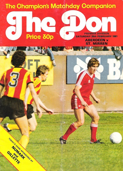 Image for The Don. Matchday Companion Saturday 28th February 1981 Aberdeen v. St Mirren.