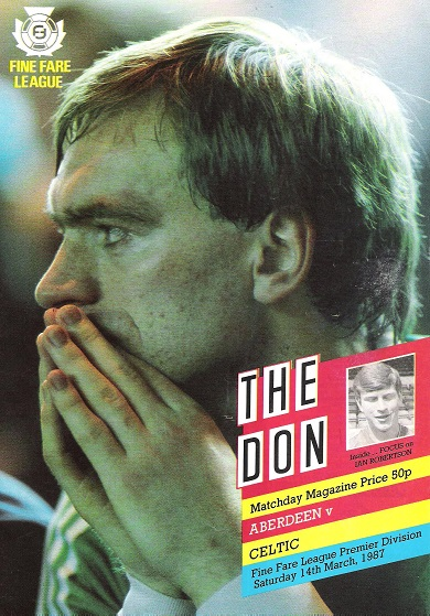 Image for The Don. Matchday Companion Saturday 14th March 1987, Aberdeen v. Celtic.
