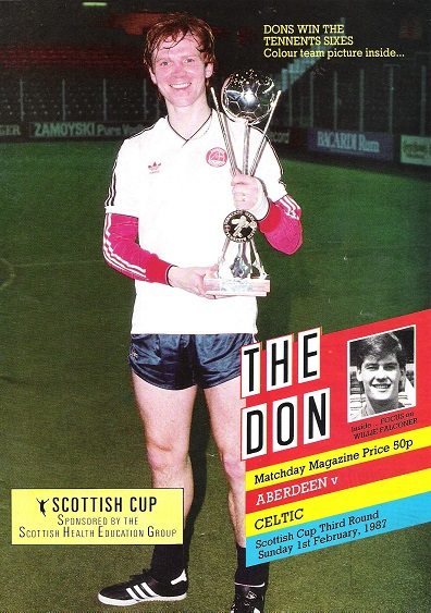Image for The Don. Matchday Companion Sunday 1st February 1987,  Aberdeen v. Celtic.