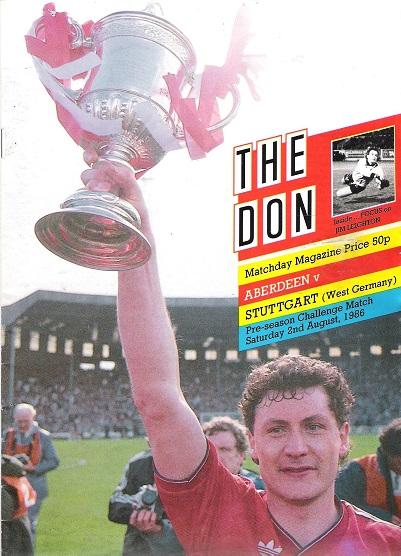 Image for The Don. Matchday Companion Saturday 2nd August 1986,  Aberdeen v.  Stuttgart.