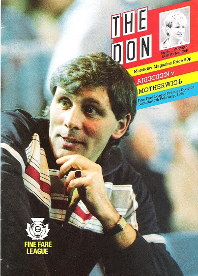 Image for The Don. Matchday Magazine Aberdeen v. Motherwell, Sat. 7th Feb. 1987.