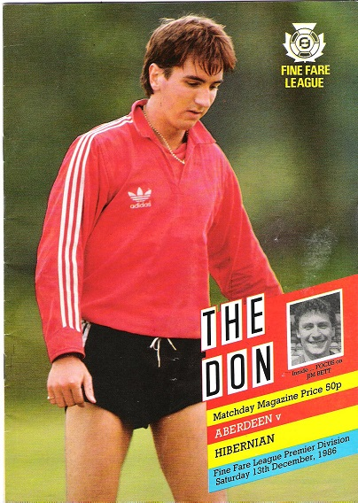 Image for The Don.  Matchday Magazine Aberdeen v. Hibernian, Sat. 13th December 1986.