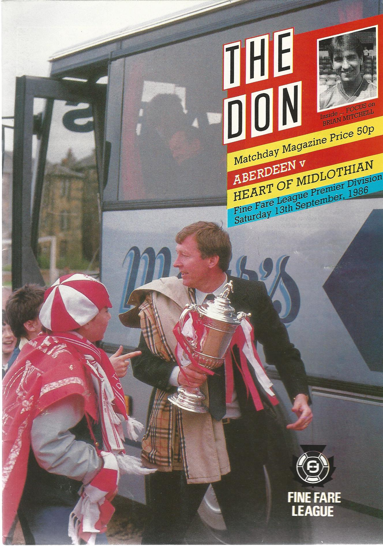 Image for The Don. Matchday Magazine Aberdeen v. Heart of Midlothian. Fine fare League Premier Division.