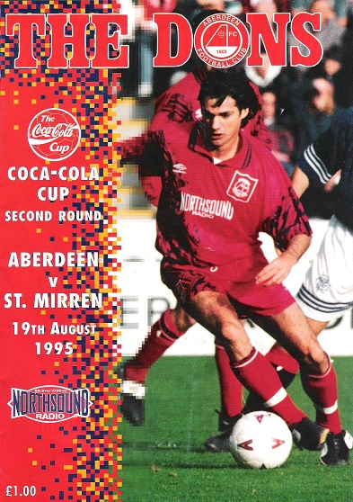 Image for The Dons, The Dons. Official matchday magazine. Coca-Cola Cup Second Round. Aberdeen v. St Mirren 19th August 1995.