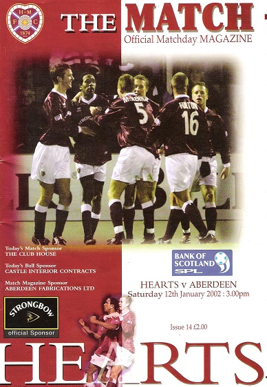 Image for The Match: Official Matchday Magazine Saturday 12th January 2002.