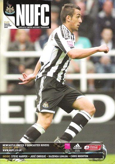 Image for NUFC Matchday  Programmes. Newcastle United  F.C. v.  Doncaster Rovers, Saturday 24th October 2009.